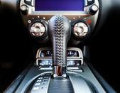 Luxury car interior details — Stock Photo