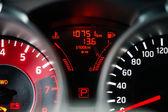 Modern sport car dashboard — Stock Photo