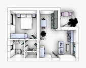 Drawing apartment — Stock Photo