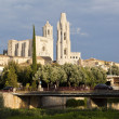 Girona, Spain. View of the city and the Cathedral of Saint Mary. — Stock Photo