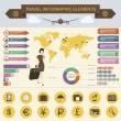 Travel Infographic Elements — Vettoriale Stock