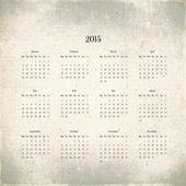 Kalendarz 2015 w stylu retro, tło — Zdjęcie stockowe
