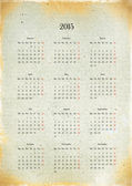 New 2015 calendar on old sheet of paper — Stock Photo