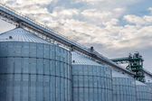 A row of granaries for storing wheat and other cereal grains  — Stock Photo