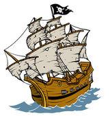 Piratenschip — Stockvector