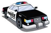 Полицейский автомобиль — Cтоковый вектор