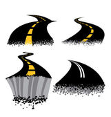 Road Rash — Stock Vector