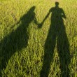 Silhouetted loving couple at sunset — Stock Photo #49271533