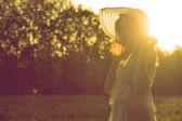 Garota de vestido. — Foto Stock