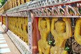 Ancient Buddha sculpture — Stock Photo