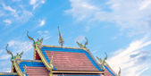 Temple building of Thai temple  — Stock Photo