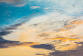 Fondo de cielo azul y blanca nube — Foto de Stock