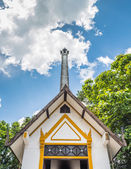 Thai style crematory  site — Stock Photo