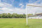 Soccer goal and field.  — Stock Photo