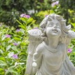 Fairy Statue in the garden with flower — Stock Photo #51555343