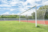 Soccer goal in field  — ストック写真