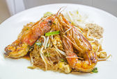 Thai style hot and sweet noodles,Pad Thai — Photo