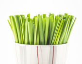 Green vegetable in cup — Stock Photo