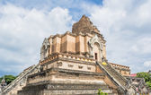 The Big pagoda in  Thailand with blue sky — Stock Photo