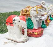 Statue of Thai Elephant in the temple  — Foto de Stock