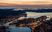 Begen city in Norway — Stockfoto