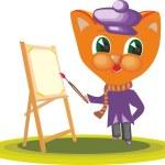 Постер, плакат: Cat Character Artist 2