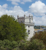 Belem Tower on Tagus River Embankment in Lisbon, Portugal — Stock Photo