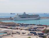 从高度上渡轮站在西班牙巴塞罗那 vell 查看 — 图库照片