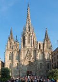 Cathedral of the Sacred Cross and Saint Evlaliya - a cathedral in Barcelona, Spain — Foto de Stock