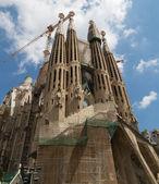 Church of Sacred family against the sky — Stock Photo