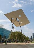 "Sculpture ""David and Goliath"" in Barcelona — Stock Photo"