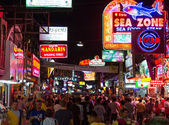 Walking Street in Pattaya at night — Stock Photo