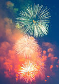 Evening fireworks in honor of a holiday the Victory Day — Stock Photo