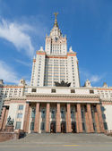 Building of the principal facade of Moscow State University in the afternoon — Stock Photo