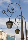 Openwork lamp on a suspension bracket in St. Petersburg — Stock Photo