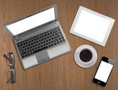 Business office desk concept — Stockfoto