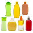 Shampoo bottles and soap dispensers — Stock Photo #49215137