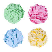 Crumpled paper balls — Stock Photo