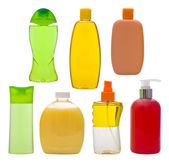 Shampoo bottles and soap dispensers — Stock Photo