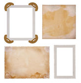 Old photo paper frames — Stock Photo