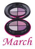 Eye shadow pallete box — Zdjęcie stockowe