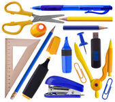 Office or school supplies set — Stock Photo