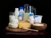 Bodegón de productos lácteos — Foto de Stock
