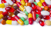 Various capsules, tablets and pills — Stock Photo