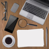 Working place elements — Stock Photo