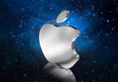 Apple and space — Stock Photo