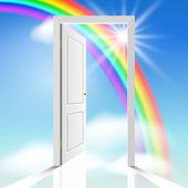 Heavenly doors — Stock Vector