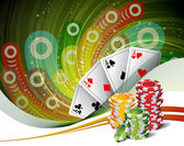 Poker — Vettoriale Stock