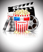 Popcorn and soda at the movies — Stock Vector
