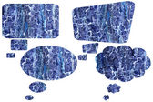 Blank abstract blue speech bubbles — Photo